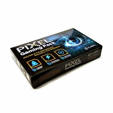 Pixel Gaming Pack, Soluzione per Il Gamer: Minor Stanchezza e Affaticamento, Protezione Occhi Grazie a Occhiali con Filtro Luce Blu e Raggi UV, Poggiapolso Ergonomico, Integratore Occhi. novità!! - 1
