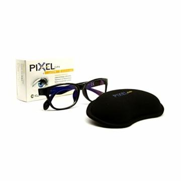 Pixel Gaming Pack, Soluzione per Il Gamer: Minor Stanchezza e Affaticamento, Protezione Occhi Grazie a Occhiali con Filtro Luce Blu e Raggi UV, Poggiapolso Ergonomico, Integratore Occhi. novità!! - 7