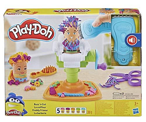 Play-Doh Fantastico Barbiere Playset con 5 Vasetti di Pasta da Modellare, Multicolore, E2930EU6 - 1