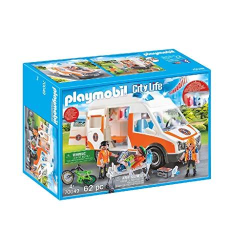 Playmobil City Life 70049 - Ambulanza con Lampeggianti e Sirena, dai 4 anni - 1