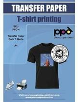 PPD A4 Carta Trasferibile Termoadesiva Per Stampanti A Getto D'Inchiostro Ink...