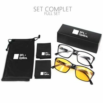 SFL + Optics. - Occhiali gaming - occhiali anti luce blu - occhiali computer - occhiali gamer - occhiali filtro luce blu - occhiali videogiochi - occhiali pc - occhiali videogame - 3