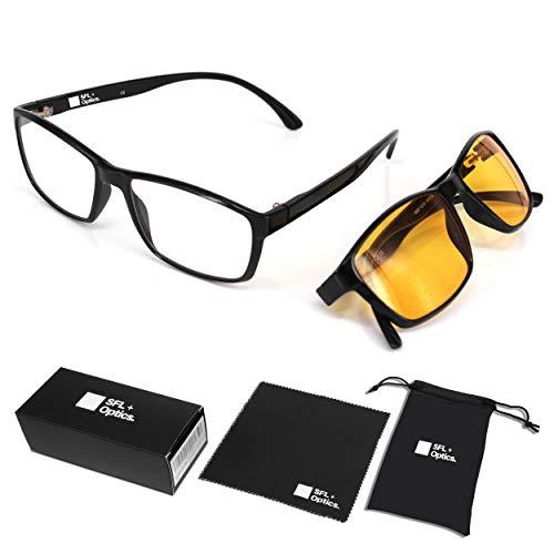 SFL + Optics. - Occhiali gaming - occhiali anti luce blu - occhiali computer - occhiali gamer - occhiali filtro luce blu - occhiali videogiochi - occhiali pc - occhiali videogame - 1