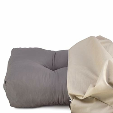 Spatium Cuscini per Pallet Sfoderabili Impermeabile Rivestimento Trapuntato Euro sedile schienale 20 cm di spessore Beige Sedile 120x80x15 - 4
