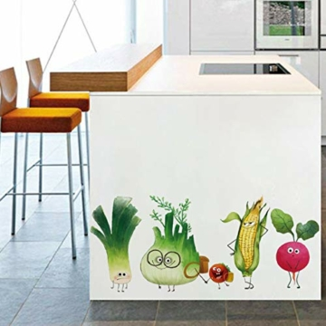 ufengke Adesivi Murali Verdure Adesivi Muro DIY Carota Cipolla per Cucina Sala da Pranzo Frigorifero Decorazioni Parete - 4