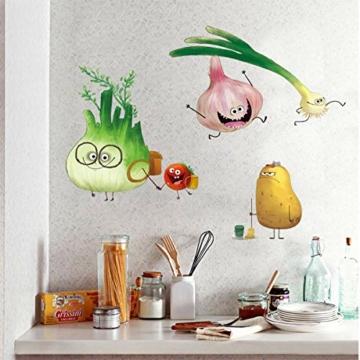 ufengke Adesivi Murali Verdure Adesivi Muro DIY Carota Cipolla per Cucina Sala da Pranzo Frigorifero Decorazioni Parete - 5