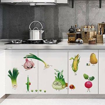 ufengke Adesivi Murali Verdure Adesivi Muro DIY Carota Cipolla per Cucina Sala da Pranzo Frigorifero Decorazioni Parete - 7