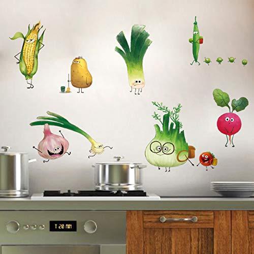 ufengke Adesivi Murali Verdure Adesivi Muro DIY Carota Cipolla per Cucina Sala da Pranzo Frigorifero Decorazioni Parete - 1