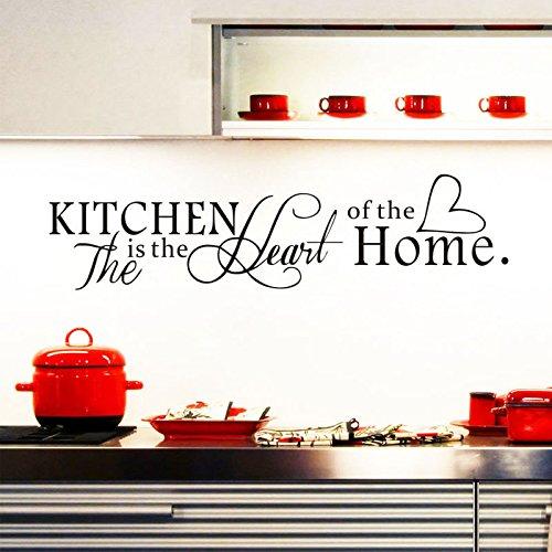 "ufengke® ""The Kitchen Is The Heart of Home Citazioni di e Proverbi Adesivi Murali, Sala da Pranzo Cucina Adesivi da Parete Removibili/Stickers - 1"