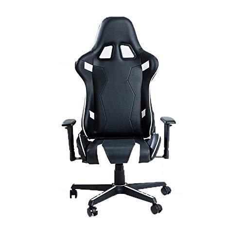 Gaming Chair Gaming economici Sedia da Ufficio, Corse Design, Cuoio Gaming Sedia da Ufficio scrivania Sedia Girevole Heavy Duty Sedia Design ergonomico con Cuscino e Schienale reclinabile Support - 1