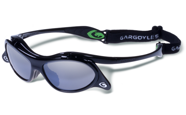 Gargoyles Occhiali Gamer Nero Fumo Argento Specchio 10700065.QTM Baseball