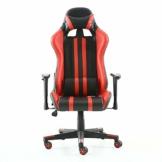 Guotail Alta Back Office Chair Gaming Sedia di Massaggio con Il poggiapiedi Ufficio Sedia con Massaggio Lombare Supporto Girevole Sedia in Pelle da Corsa Stile bracciolo PU Schienale Alto - 1