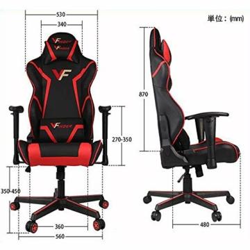 Guotail Gaming Massage Chair con poggiapiedi Sedia da Ufficio con Massaggio Lombare Supporto Girevole Sedia in Pelle da Corsa Stile bracciolo PU Schienale Alto Schienale reclinabile Support - 3