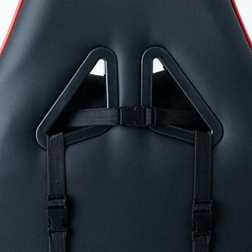 Guotail Gaming Massage Chair con poggiapiedi Sedia da Ufficio con Massaggio Lombare Supporto Girevole Sedia in Pelle da Corsa Stile bracciolo PU Schienale Alto Schienale reclinabile Support - 4