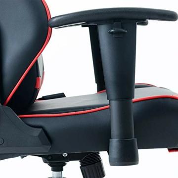 Guotail Gaming Massage Chair con poggiapiedi Sedia da Ufficio con Massaggio Lombare Supporto Girevole Sedia in Pelle da Corsa Stile bracciolo PU Schienale Alto Schienale reclinabile Support - 5