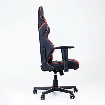 Guotail Gaming Massage Chair con poggiapiedi Sedia da Ufficio con Massaggio Lombare Supporto Girevole Sedia in Pelle da Corsa Stile bracciolo PU Schienale Alto Schienale reclinabile Support - 7
