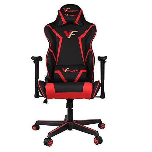 Guotail Gaming Massage Chair con poggiapiedi Sedia da Ufficio con Massaggio Lombare Supporto Girevole Sedia in Pelle da Corsa Stile bracciolo PU Schienale Alto Schienale reclinabile Support - 1