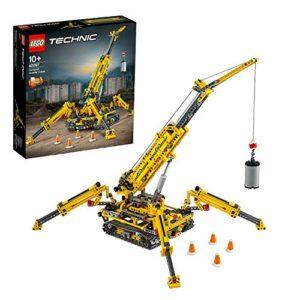 LEGO Technic Gru Cingolata Compatta, Ricostruibile a Torre Compatta, Set di Costruzioni 2in1, 42097 - 1