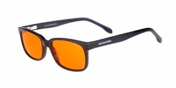 NOOHACKING® - Occhiali anti luce blu, filtro 100% – Anti fatica e protezione degli occhi contro la luce artificiale, ideale per il sonno (insonnia) / Biohacking/Gamers (52-18-135, nero) - 1