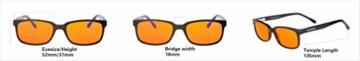 NOOHACKING® - Occhiali anti luce blu, filtro 100% – Anti fatica e protezione degli occhi contro la luce artificiale, ideale per il sonno (insonnia) / Biohacking/Gamers (52-18-135, nero) - 7
