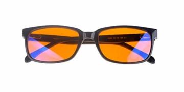 NOOHACKING® - Occhiali anti luce blu, filtro 100% – Anti fatica e protezione degli occhi contro la luce artificiale, ideale per il sonno (insonnia) / Biohacking/Gamers (52-18-135, nero) - 8