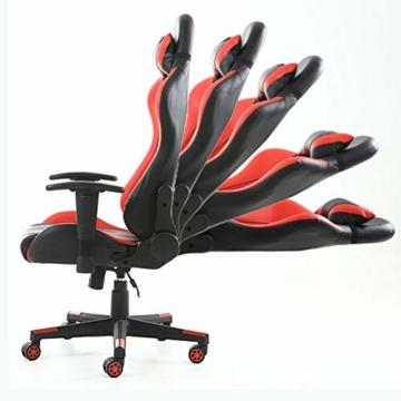 Pc Gaming Sedia ergonomica Gaming Chair Corsa Sedia da Ufficio Stile con con Il più Grande ad Alta dello Schienale e bracciolo Cuscino ingrandita - 2