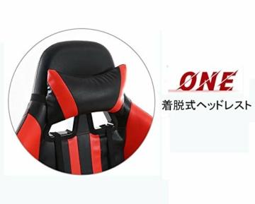Pc Gaming Sedia ergonomica Gaming Chair Corsa Sedia da Ufficio Stile con con Il più Grande ad Alta dello Schienale e bracciolo Cuscino ingrandita - 3