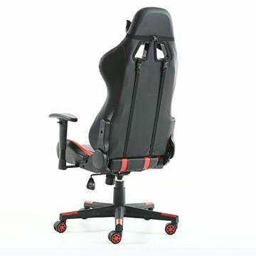 Pc Gaming Sedia ergonomica Gaming Chair Corsa Sedia da Ufficio Stile con con Il più Grande ad Alta dello Schienale e bracciolo Cuscino ingrandita - 7