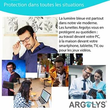 S&B Provence - Occhiali antiluce blu Argolys® SB001 - Lenti antiriflesso + accessori - Occhiali da riposo ultraleggeri - Aste curve - Ideali per gamer e lavoro su computer - 2
