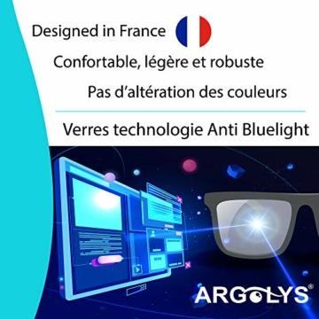 S&B Provence - Occhiali antiluce blu Argolys® SB001 - Lenti antiriflesso + accessori - Occhiali da riposo ultraleggeri - Aste curve - Ideali per gamer e lavoro su computer - 5