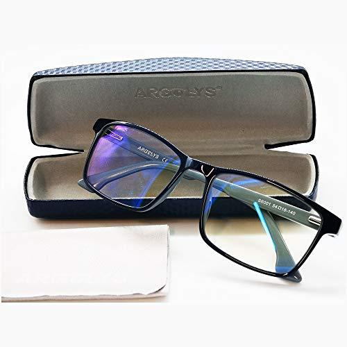S&B Provence - Occhiali antiluce blu Argolys® SB001 - Lenti antiriflesso + accessori - Occhiali da riposo ultraleggeri - Aste curve - Ideali per gamer e lavoro su computer - 1