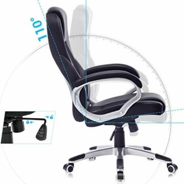 Songmics OBG22B - Sedia da Ufficio Stabile, Resistente, Durevole, Altezza Regolabile, Ergonomica, Nero - 3
