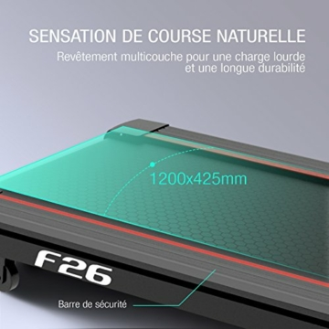 Sportstech F31 Tapis Roulant elettrico pieghevole inclinabile professionale salvaspazio con controllo via App per Smartphone 16km/h - con funzione di autolubrificazione e ammortizzazione a 6 zone (F26) - 3