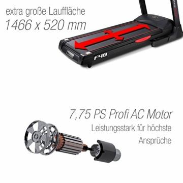 Sportstech F48 Tapis roulant Professionale da 10,1 Pollici con Android WiFi 7,75 CV 20 kmh con Supporto Tablet - Cingha Cardio Inclusivo - Pieghevole - 3