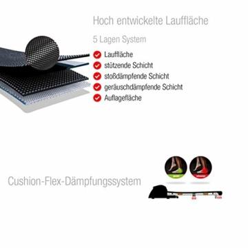 Sportstech F48 Tapis roulant Professionale da 10,1 Pollici con Android WiFi 7,75 CV 20 kmh con Supporto Tablet - Cingha Cardio Inclusivo - Pieghevole - 6