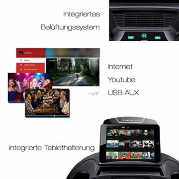 Sportstech F48 Tapis roulant Professionale da 10,1 Pollici con Android WiFi 7,75 CV 20 kmh con Supporto Tablet - Cingha Cardio Inclusivo - Pieghevole - 8