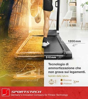 Sportstech Tapis Roulant Ultra Sottile FX300 -Marchio di qualità Tedesco- con Eventi Video e Multiplayer App, Superficie di Corsa Gigante e Senza Montaggio, Fino a 16 km/h - 7