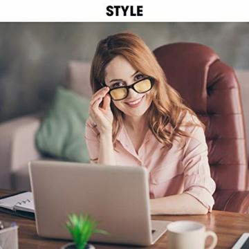 Top Life Occhiali da Gaming Anti Luce Blu - Occhiali da Gamer Anti Bagliore su Schermi Computer - Occhiali Alta Protezione Anti Fatica - 5