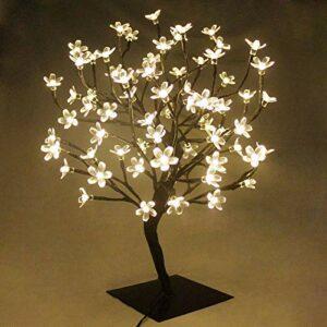 Dove acquistare 45cm Albero Luminoso Decorativo Lampada Fiori di Ciliegio con72Luci Natalizie a LED,TavoloLuceBonsai,per Decorazione della Casa, Festa, Natale, Matrimonio, Compleanno, Interno (Bianco Caldo)