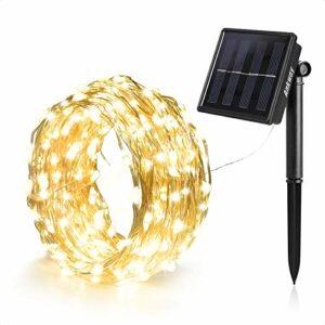 Dove acquistare Ankway 8 modalità Decorativo Catene luminose solare Strisce 100LED Solari 12m/39ft, Impermeabili IP65 Luce Bianca Calda per Esterno, Giardino,Patio, Matrimonio e Natale Decorazioni (Bianco Caldo)