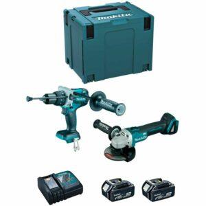 MAKITA Kit TTX2130TJ2 (DGA504 + DHP481 + 2 x 5,0Ah + DC18RC + MAKPAC 4) Offerte e sconti
