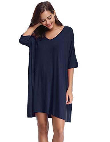 Dove acquistare Aibrou Donna Camicia da Notte Pigiama T-Shirt Vestito Sciolto Plus Size Scollo a V Pigiama Modal Donna