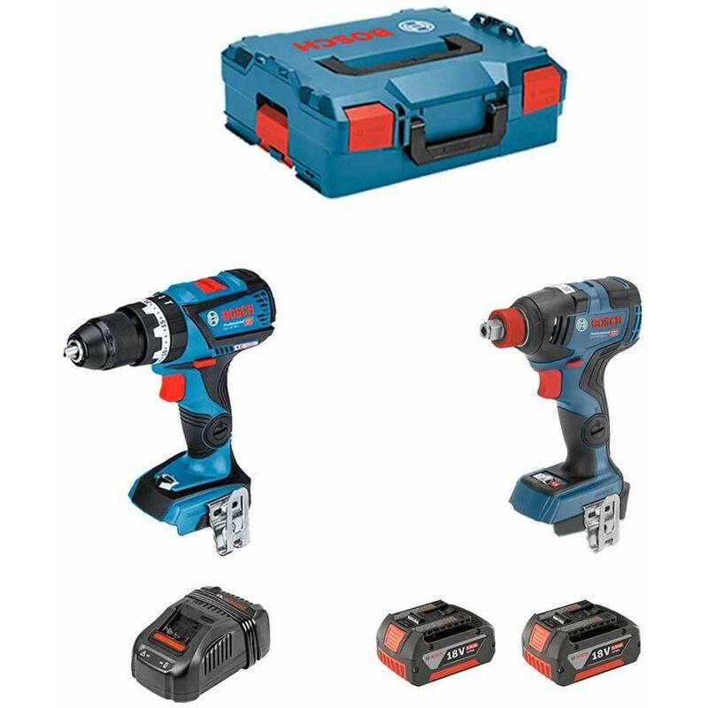 Dove acquistare BOSCH Kit GSB 18V-60 C + GDX 18V-200 C (2 x 5,0Ah + GAL1880CV + L-Boxx 136)