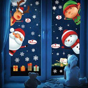 Dove acquistare UMIPUBO Natale Adesivi Porta Natale Vetrofanie Addobbi Rimovibile Adesivi Statico Fai da te Finestra Sticker Decorazione Babbo Natale Vetrina Wallpaper Adesivi (Natale)