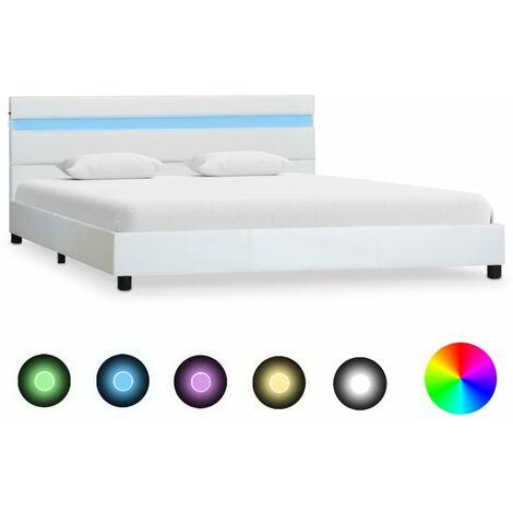 Giroletto con LED Bianco in Similpelle 120×200 cm Offerte e sconti
