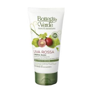 Uva Rossa - Crema mani, antieta nutriente, con estratto di Uva Rossa di Tenuta Massaini (75 ml) - pelli molto secche