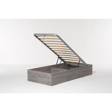 Letto Contenitore Cangu' Bed Box Singolo 90X190 Rovere Grigio Offerte e sconti