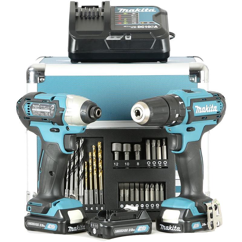 Makita CLX228SAX2 Set Trapano avvitatore e impulsi 3 Batterie da 10,8V Bricolage e utensili