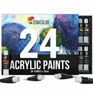 Dove acquistare Zenacolor Set da 48 Tubetti di Pittura Acrilica, Colori Acrilici – Confezione da 48 x 12mL