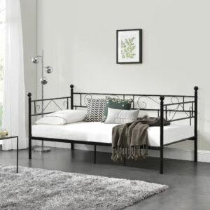 Dove acquistare Divano Letto Metallo 200 x 90 cm Sofa Singolo Design Incluso Rete a Doghe Nero